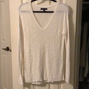 White knit sweater/blouse